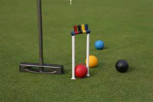 Modern croquet equipment
