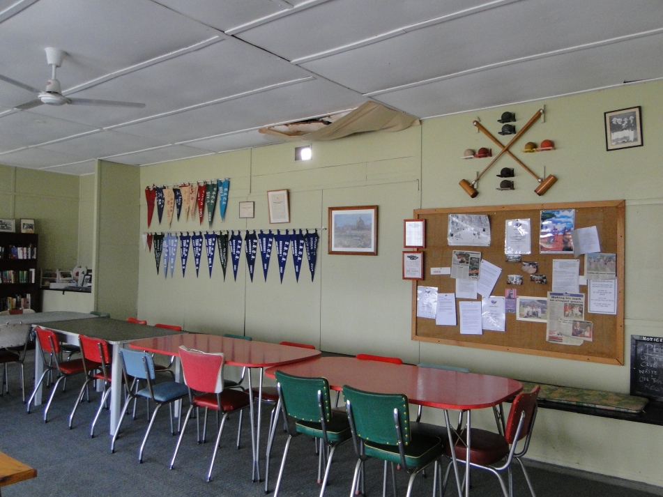 Interior of refurbished clubhouse.