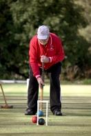Erik Klenke lines up to run the hoop