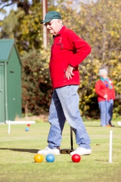 Trevor Kramm walks to the next hoop