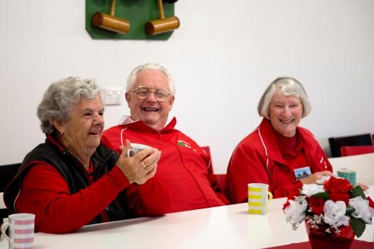 A happy trio: Colleen, John and Patricia Hill.